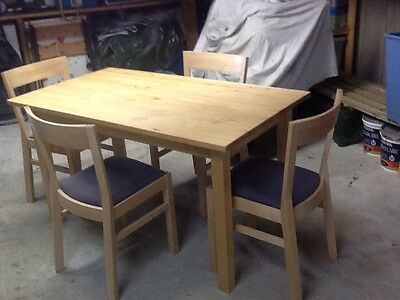 IKEA Roger Dining Table And Four Norden Chairs