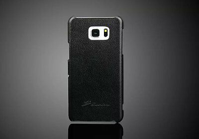 Genuine Leather Flip Case Cover For Samsung Galaxy Note 5 V
