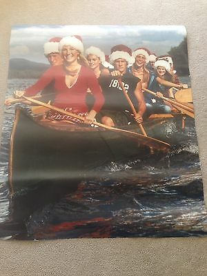 "Abercrombie & Fitch Store Display Poster  Holiday Canoe RARE Canvas  44"" x 51"""