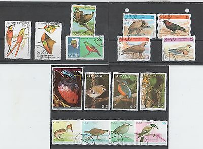 Birds on Stamps From Around The World Selection