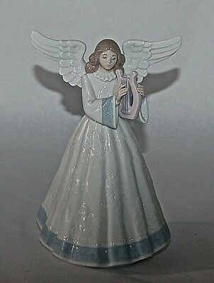 Lladro Angel Playing Harp