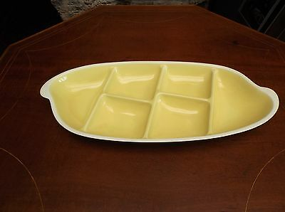 Superb rare, Pilkingtons Royal Lancastrian, compartmental hors d'oeurve dish