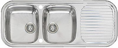 Double Bowl Kitchen Sink and Drainer