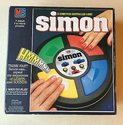 Vintage-Retro MB SIMON Electronic Memory Game Full Size - Working Boxed