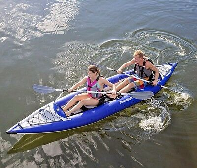 Aquaglide Chelan HB Tandem 2-3 Person Top Quality Inflatable Touring Kayak Set