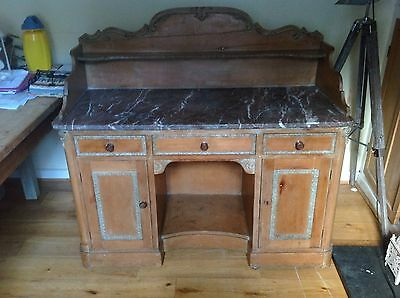 Victorian Antique Pine with Marble top Wash Stand/ Dressing Table/ Desk