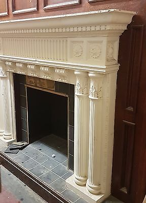 Large huge fire surround ornate classical detailed Egg and Dart