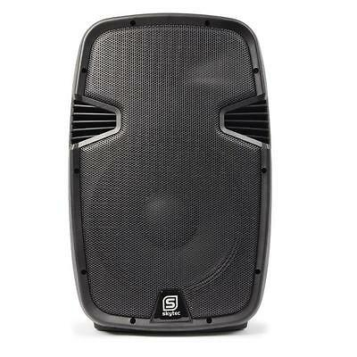 """Skytec Spj1000A Pro 10"""" Active Pa Speaker 200W Rms Dj Disco Party Stage Monitor"""