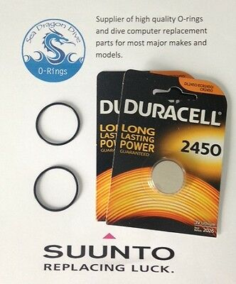 Battery & O-ring kit for Suunto Vyper, Vytec, Gekko, Zoop, HelO2 Dive Computers