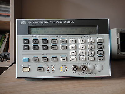 HP 8904A MULTIFUNCTION SYNTHESIZER DC-600 KHz, Tested, working!