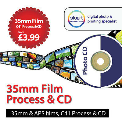 35mm / APS C41 Colour Film processing with CD