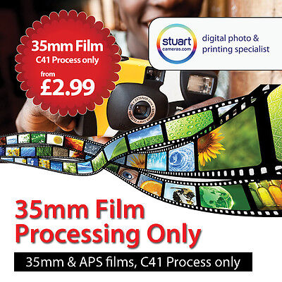 35mm / APS C41 Colour Film Developing Service Only