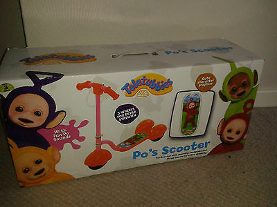 Teletubbies Po's Scooter With Sounds New and Sealed in Box