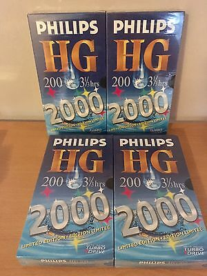 BNS 4x Philips HG 200 Blank VHS Video Tapes 3.5-hour 2000
