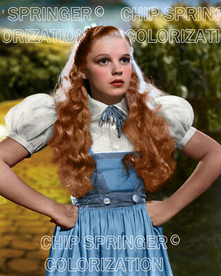 JUDY GARLAND as DOROTHY with Hands on Hips | 8x10 COLOR Photo by CHIP SPRINGER