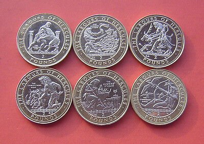Gibraltar 1997-2000 Labours of Hercules serie 2 Pounds 12 Bi-metallic Coins Set