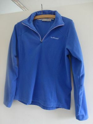CRAGHOPPERS Ladies fleece top in strong blue size 8