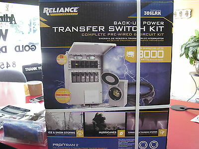 Reliance Back-Up Power Transfer Pre-Wired 6 Circuit Kit - 306LRK - NIB