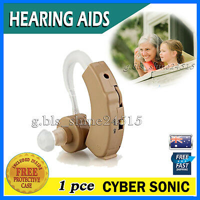 1x Hearing Aids Aid Behind Ear Adjustable Tone Voice Sound Digital Amplifier Kit