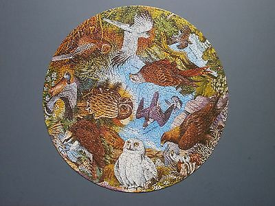 1975 Waddingtons & Rspb Circular Jigsaw Puzzle Birds Of Prey Complete & Boxed