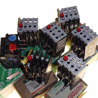 7 x New overload relay direct on-line Crabtree Motorpak adjustable various amp