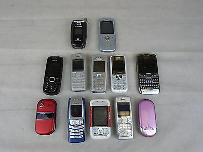 Job Lot of 12 Mobile Phones Nokia Sony Ericsson LG Motorola Samsung