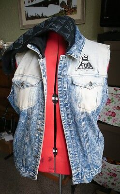 "RARE Fall Out Boy ""Save Rock and Roll"" tour denim vest jacket"