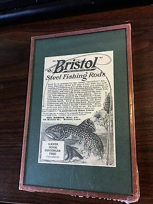 Original 1910 Bristol Steel Fishing Rods  Advertisement