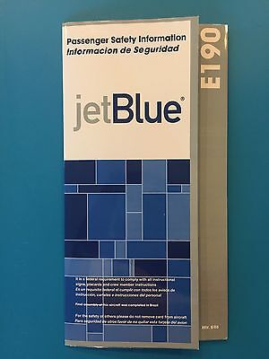 Jetblue Airways Safety Card-- E190