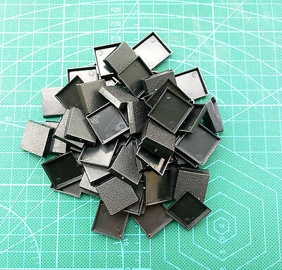 Lot-Of-60-20mm-Square-Bases-For-wargames-table games