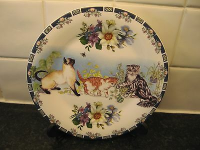 Cat   Plate  -    Cats And Flowers     -Royal Doulton