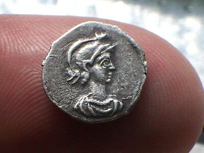 L@@K Excessively Rare Anonymous AR 1/3 Silver Siliqua Roman Coin Theodosius 1,
