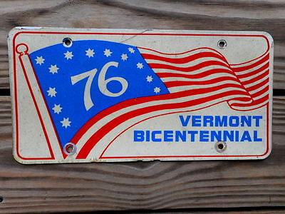 1976 Vermont State Issued Bicentennial License Plate:tag Number Vt Metal
