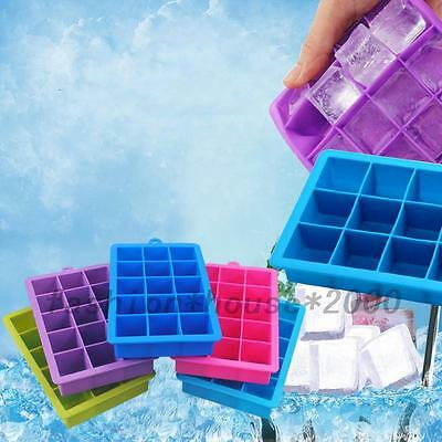Kids Children 15 Cavities Silicone Mold Tool Jelly Ice Cubes Tray Pudding Mould