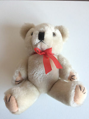 Teddy With Red Bow & Jersey Zoo Bear