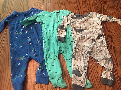 12 Months Size Baby Boys Sleepers Pajamas Lot