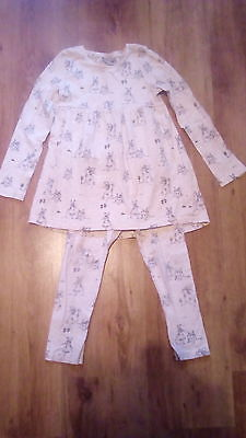 Next girls bunny top and leggings set age 4-5 years.