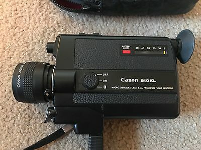 Working CANON 310XL Super 8 Movie Camera with Macro Lens