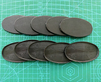 Lot-Of-10-75mm-Oval-Bases-For-wargames-table games