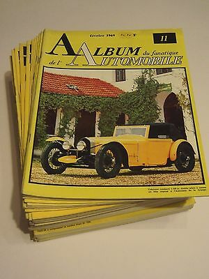 Important lot l'Album du Fanatique de l'Automobile n° 11 au 86,  Serge POZZOLI