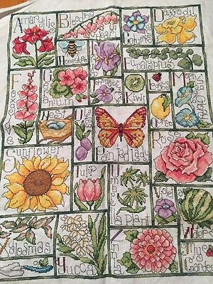 """My Garden"" Finished And Completed Crosstitch.  Stitched Myself.  Ready For Fram"