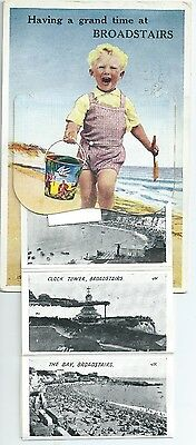 Printed pullout postcard of Broadstairs  Kent in good condition
