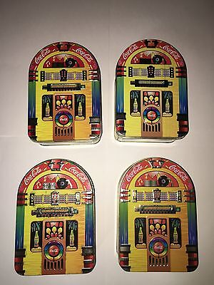 4 Vintage COCA-COLA Always Rockin' Jukebox  Collectible Tin 1996