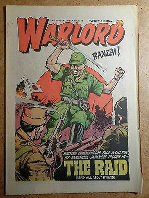 Warlord Comic No.259 September 8th 1979 War Action Vintage British Comics