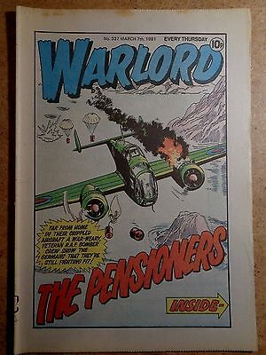 Warlord Comic No.337 March 7th 1981 War Action Vintage British Comics