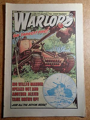 Warlord Comic No.355 July 11th 1981 War Action Vintage British Comics