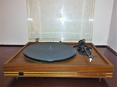 AWESOME & RARE SYSTEMDEK llX Turntable, Glass Platter Record Player Excl'nt cond