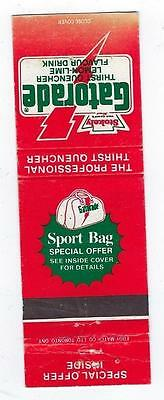 Vintage  Gatorade  Sport Bag  Special Offer Matchcover