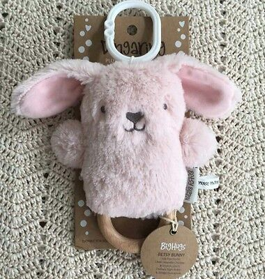 Dingaring baby teether rattle Betsy Bunny teething toy new
