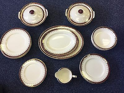 Alfred Meakin Dinner Set Service Red Gold ##DAC04RW